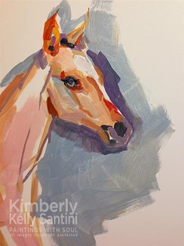 """Ballerina - In Process"" original fine art by Kimberly Santini"
