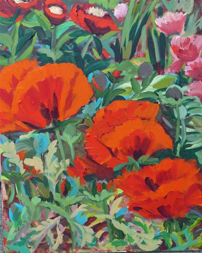 """""""Beacon Hill Park Poppies"""" original fine art by Darlene Young"""