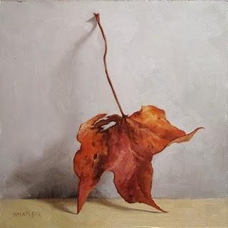 """Leaning Leaf"" original fine art by Michael Naples"