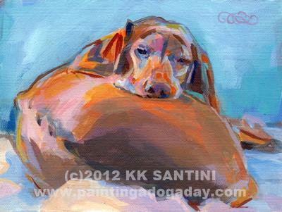 """Sweet Poo Dreams"" original fine art by Kimberly Santini"