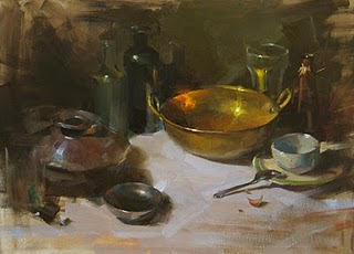 """Gold and Silver"" original fine art by Qiang Huang"