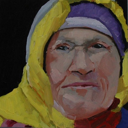 """FACE OF A WOMAN"" original fine art by Linda Popple"