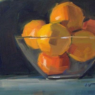 """Bowl of Ruby's --- SOLD"" original fine art by Carol Marine"