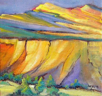 """Canyon Dreams 33"" original fine art by Pam Van Londen"