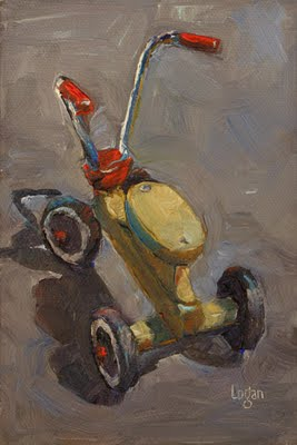 """Scooter"" original fine art by Raymond Logan"