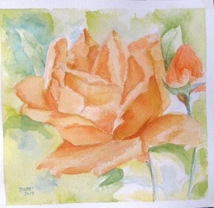 """""""Rose"""" original fine art by Lynn Darby"""