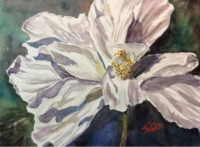 """Day 16 - Study in White 3"" original fine art by Lyn Gill"