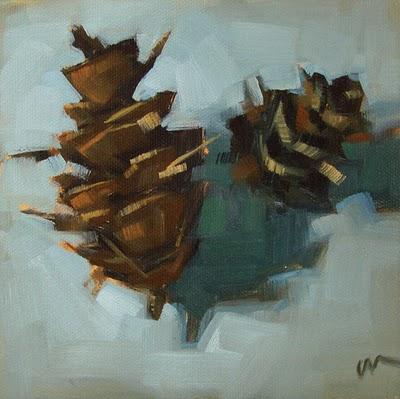 """Pine Cones 2 --- SOLD"" original fine art by Carol Marine"