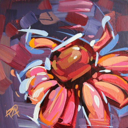 """""""Flower Abstraction 199"""" original fine art by Roger Akesson"""