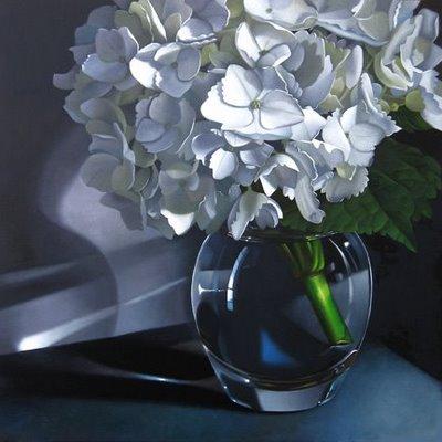 """""""Hydrangea 18x18"""" original fine art by M Collier"""