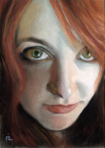 """""""Missa – facebook portrait #2"""" original fine art by Ria Hills"""