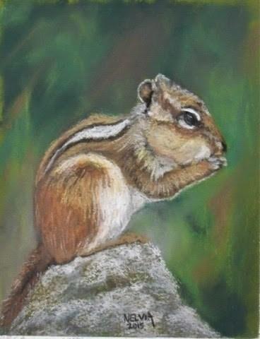 """""""Chippie"""" original fine art by Nelvia McGrath"""