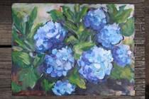 """Hydrangea Memories of Summer"" original fine art by Maggie Flatley"