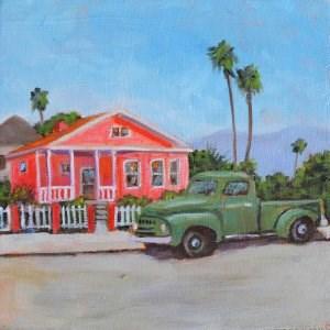 """Pepto Bismol House"" original fine art by Robert Frankis"