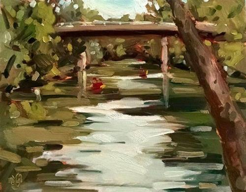 """White River Canoes"" original fine art by Jessica Green"