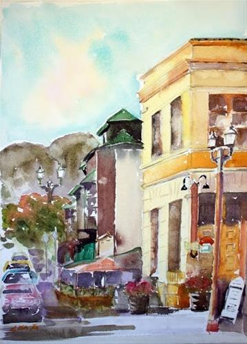 """Old Town, Temecula, CA"" original fine art by Lisa Fu"