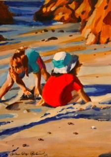 """""""Girlfriends"""" original fine art by JoAnne Perez Robinson"""