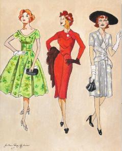 """Vintage Gals"" original fine art by JoAnne Perez Robinson"