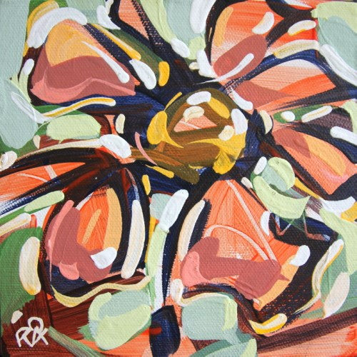 """Flower Abstraction 231"" original fine art by Roger Akesson"
