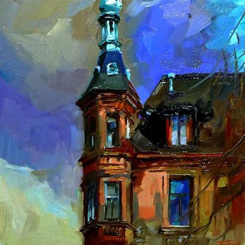 """""""Irgendwo in Heidelberg 2"""" original fine art by Jurij Frey"""