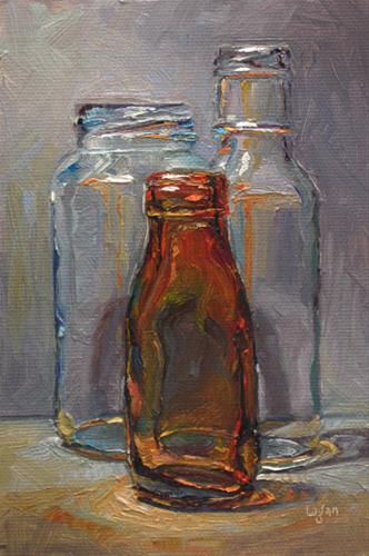 """Amber Bottle"" original fine art by Raymond Logan"