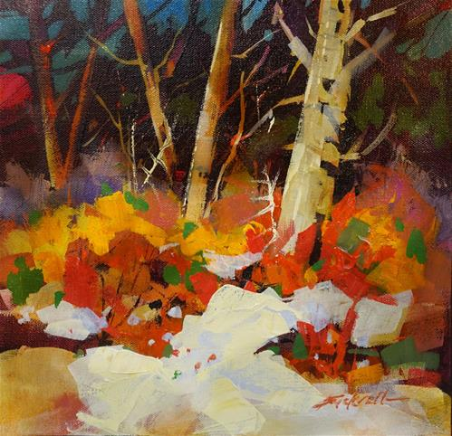 """""""First Colours of Spring"""" original fine art by Brian Buckrell"""