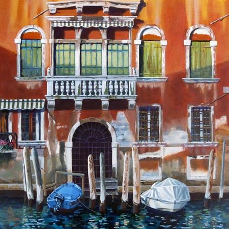 """Sunlight and shadows, Venice"" original fine art by Alix Baker PCAFAS AUA"