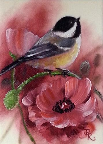 """Poppy Pals"" original fine art by Paulie Rollins"
