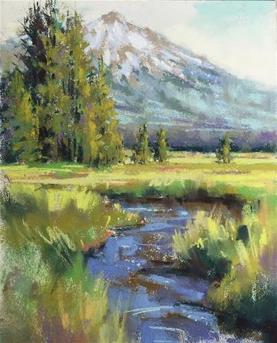"""Mt. Bachelor"" original fine art by Marla Baggetta"