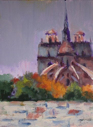 """""""Notre Dame Cathedral, Architectural Paintings by Arizona Artist Amy Whitehouse"""" original fine art by Amy Whitehouse"""