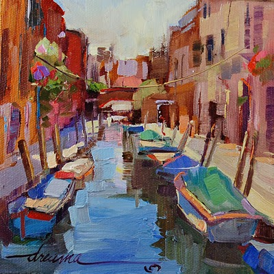 """""""Venice, a Love Shared SOLD"""" original fine art by Dreama Tolle Perry"""