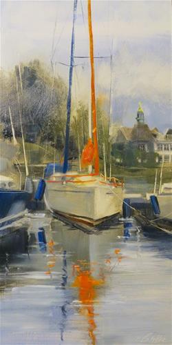 """Orange Crush"" original fine art by Beth Bathe"