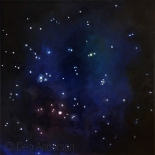 """""""Oil Painting: Summer Triangle of Stars"""" original fine art by Deb Anderson"""