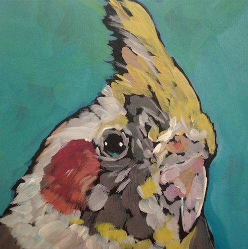 """March 14, Gwen"" original fine art by Kat Corrigan"