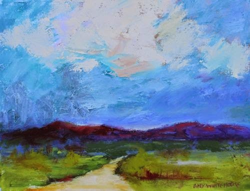 """""""Land of Enchantment, Contemporary Landscape Paintings by Arizona Artist Amy Whitehouse"""" original fine art by Amy Whitehouse"""