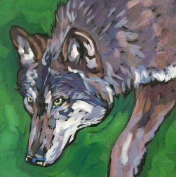 """Low Glance"" original fine art by Kat Corrigan"