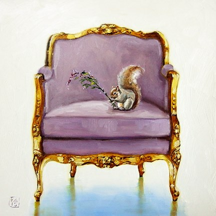 """nutty for a flower"" original fine art by Kimberly Applegate"