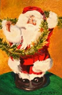 """Santa Baby"" original fine art by JoAnne Perez Robinson"