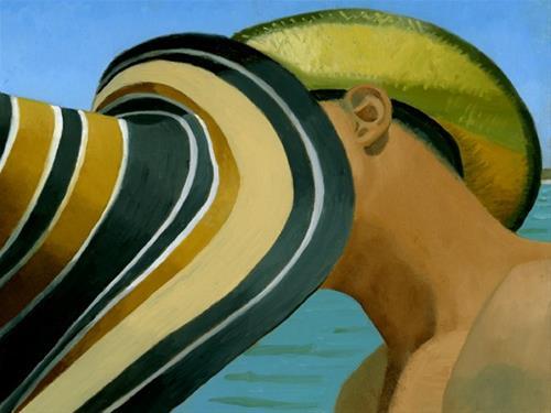 """THE KISS"" original fine art by Nancy Herman"