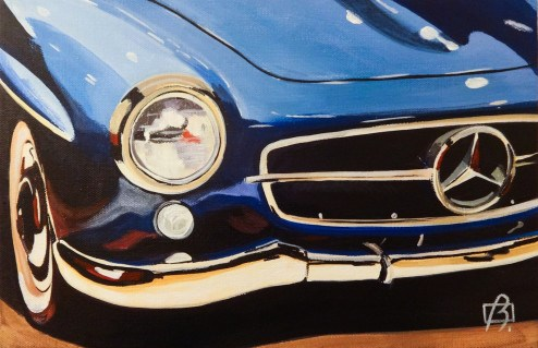 """Mercedes II"" original fine art by Andre Beaulieu"