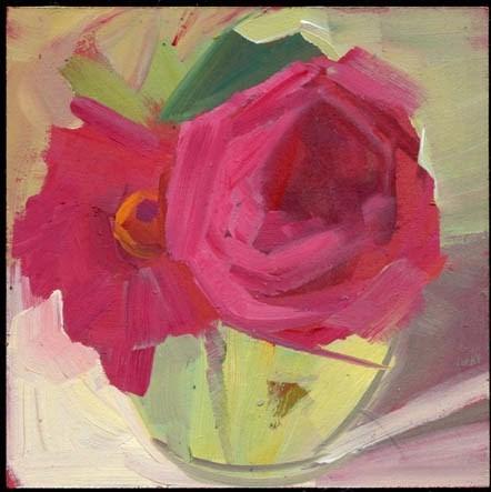 """1829 Redbud"" original fine art by Lisa Daria"