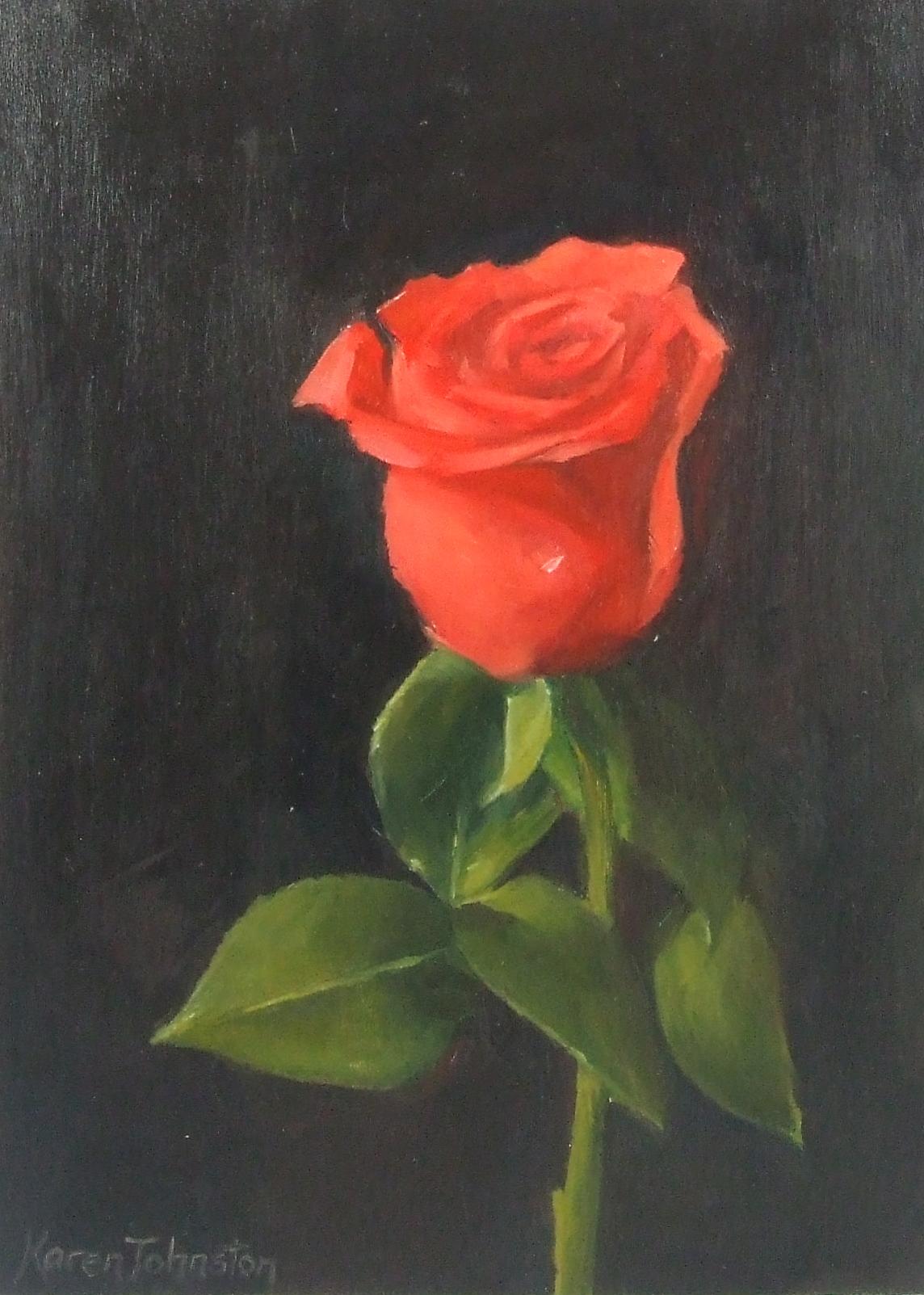 """Valentine Rose"" original fine art by Karen Johnston"