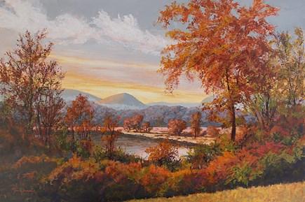 """Hudson Highlands in Autumn"" original fine art by Jamie Williams Grossman"