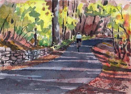 """""""Bend In The Trail"""" original fine art by Jeff Atnip"""