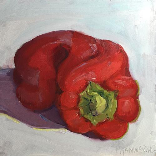 """""""Red Bell Pepper"""" original fine art by Merle Manwaring"""