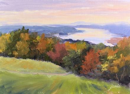 """Hudson River Magic"" original fine art by Jamie Williams Grossman"