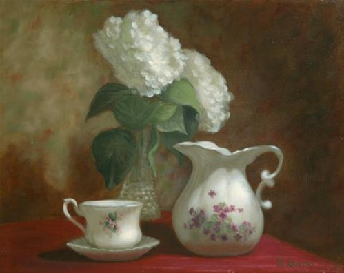"""""""Tea Time #604"""" original fine art by Dee Lessard"""
