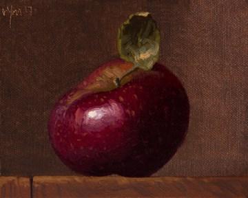 """Stayman Apple (literally vs. seriously)"" original fine art by Abbey Ryan"