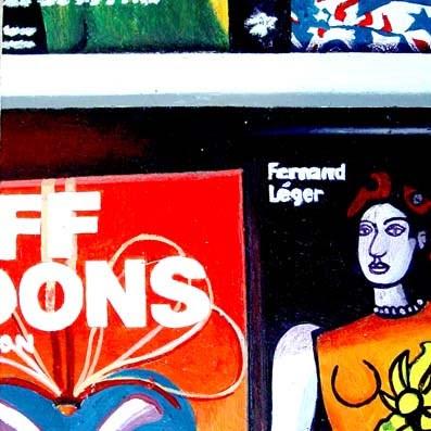 """Léger Books- Still Life Painting Of Books Fernand Léger and Jeff Koons"" original fine art by Gerard Boersma"