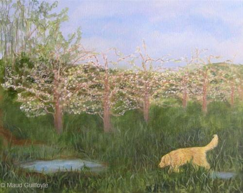 """""""Dolly in Spring"""" original fine art by Maud Guilfoyle"""